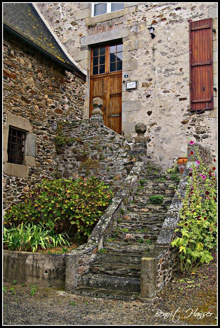 L'escalier de granit - Saint-Suliac