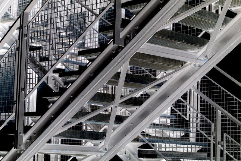 L'escalier du centre G.Pompidou