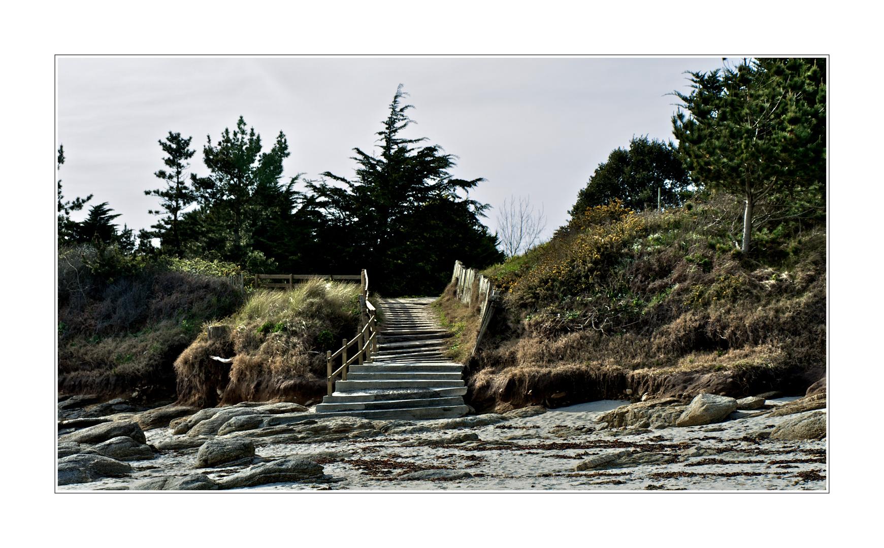 L'escalier vers la plage