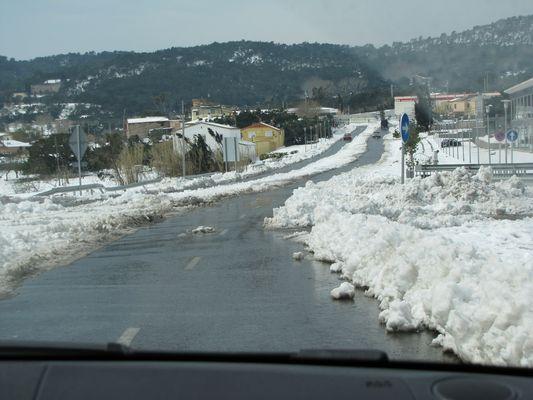 L'Espagne sous la neige