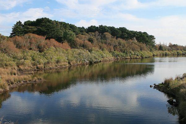 l'étang de Kerver à Arzon (Morbihan)