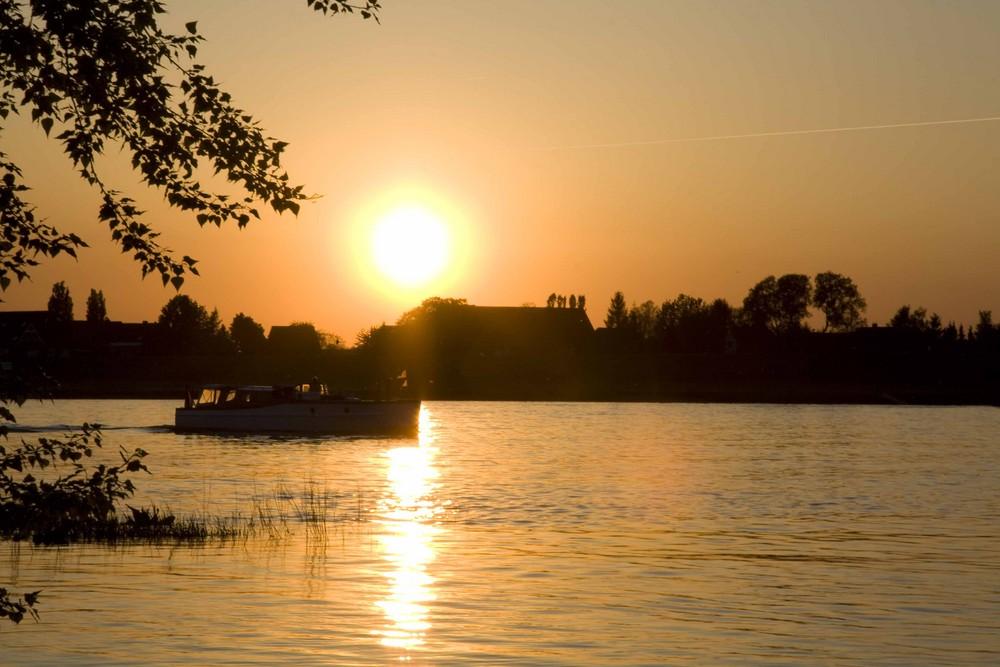 Letzte Fahrt vor Sonnenuntergang