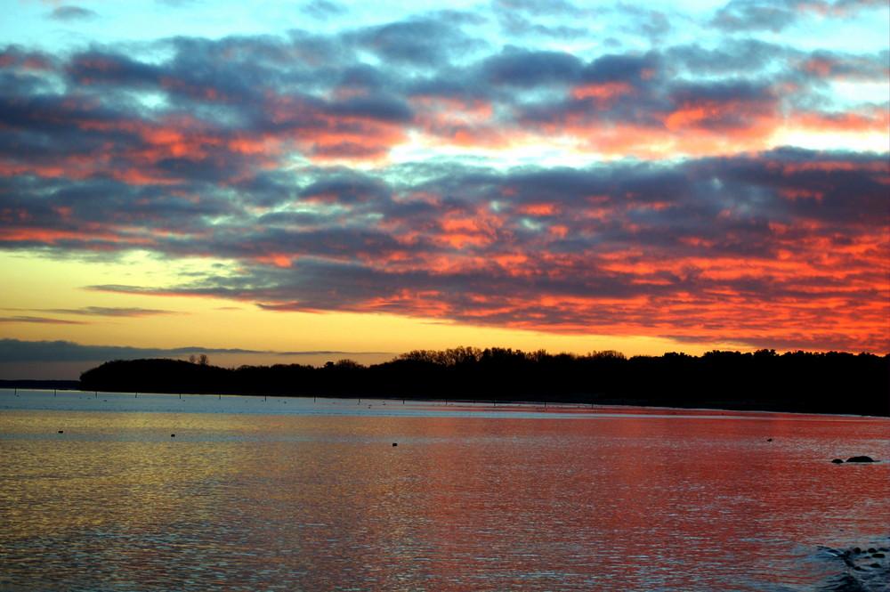 Letzte Sonnenuntergang des Jahres 2007