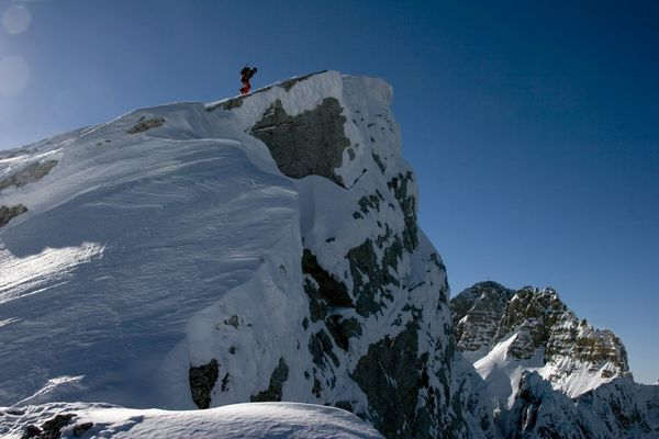 Letzten Höhenmeter vom Schidepot zum Festkogel Gipfel