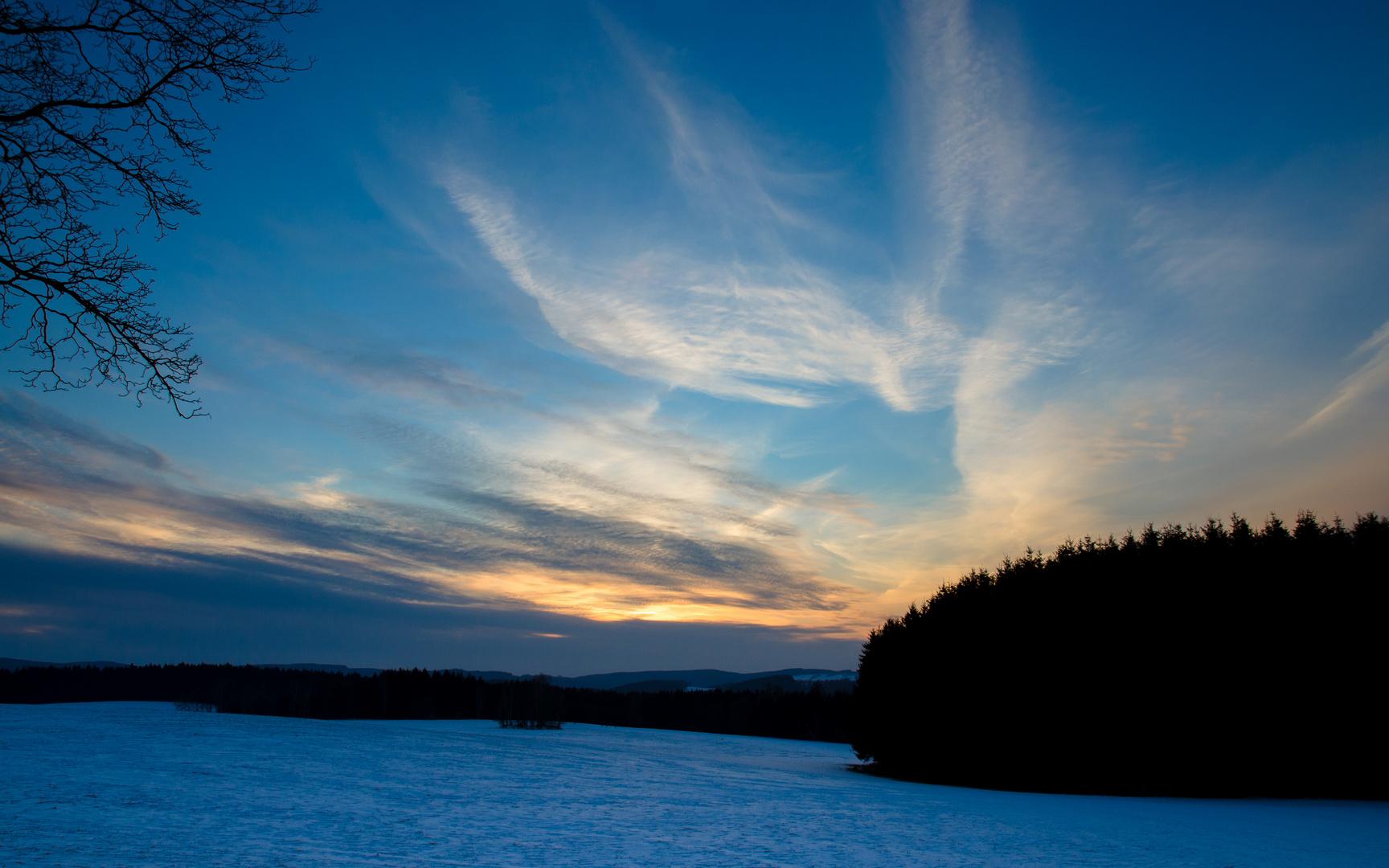 letzter Winterabend