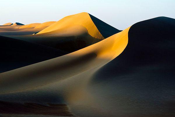 Letztes Licht auf den Dünen