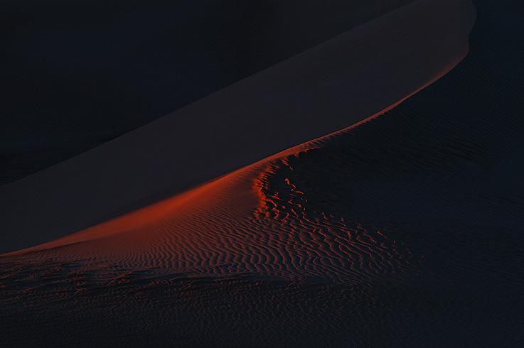 Letztes Licht im Sandmeer