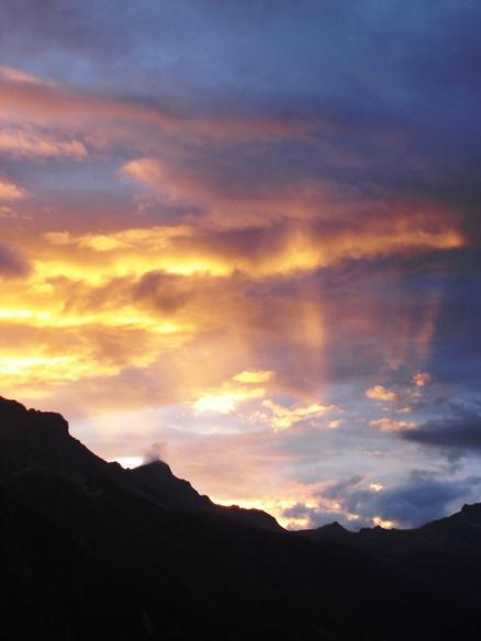 Letztes Licht in der Schweiz