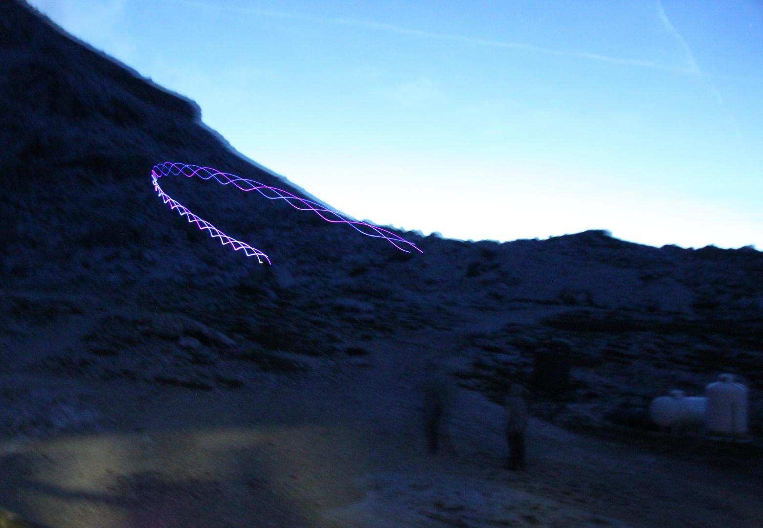 Leucht Bumerang auf dem Pisciadu