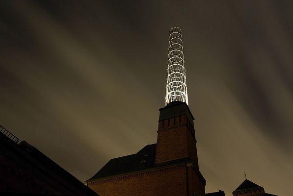 Leucht-Turm in der Speicherstadt