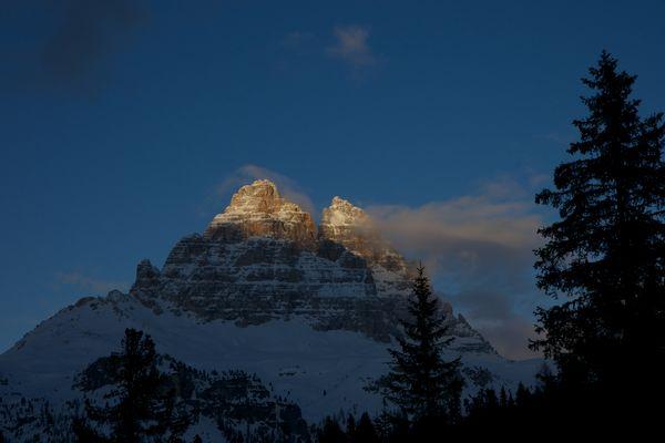 Leuchtende Dolomiten