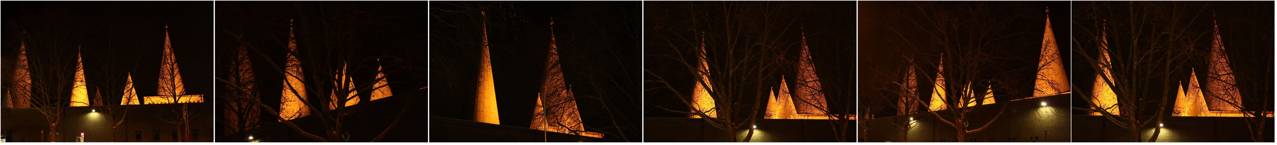 Leuchtende Kirchtürme