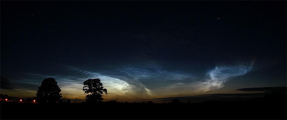 Leuchtende Nachtwolken am 17.7.2005