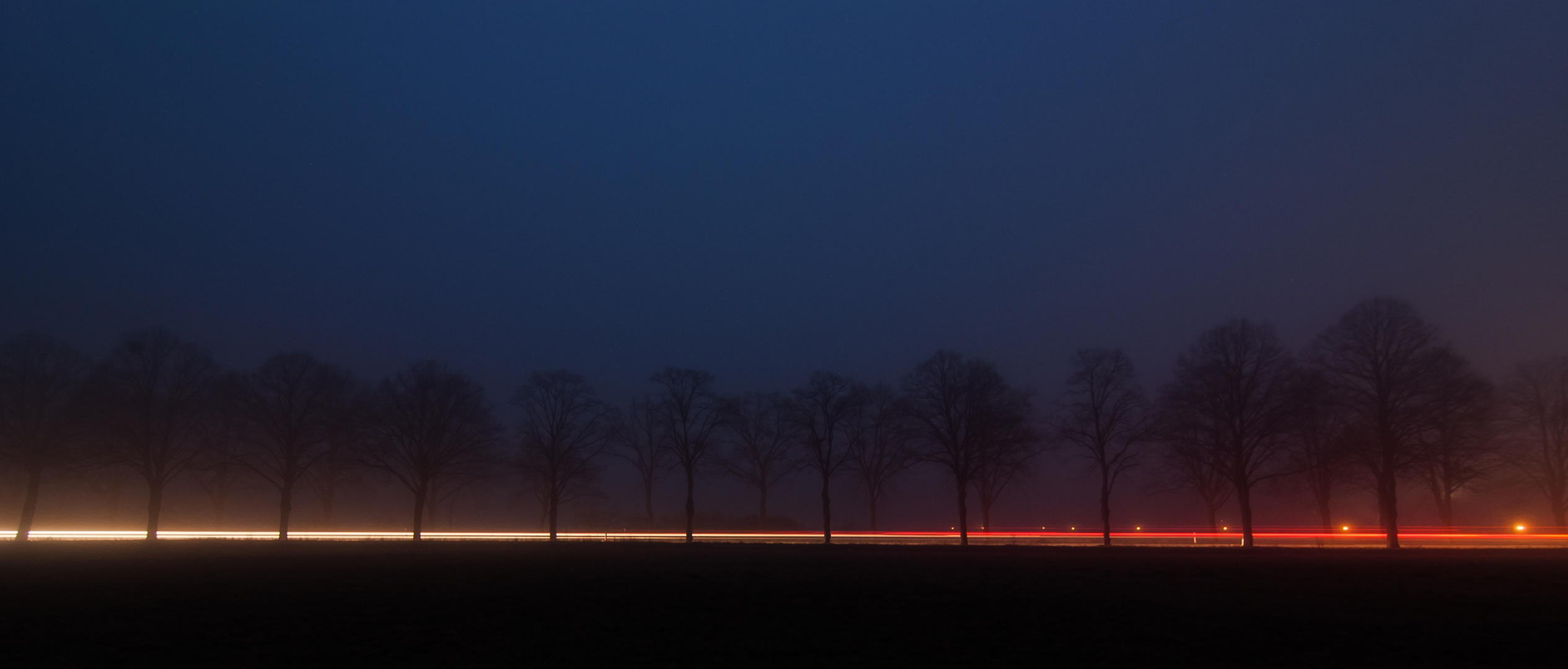 Leuchtende Nebelstraße