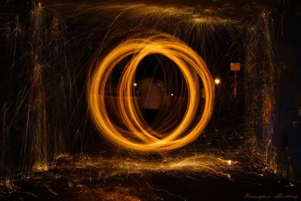 Leuchtende Ringe