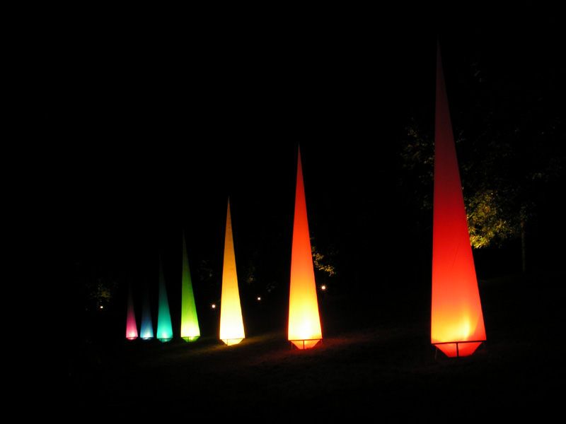 Leuchtende Säulen