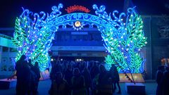 Leuchtender Eingang