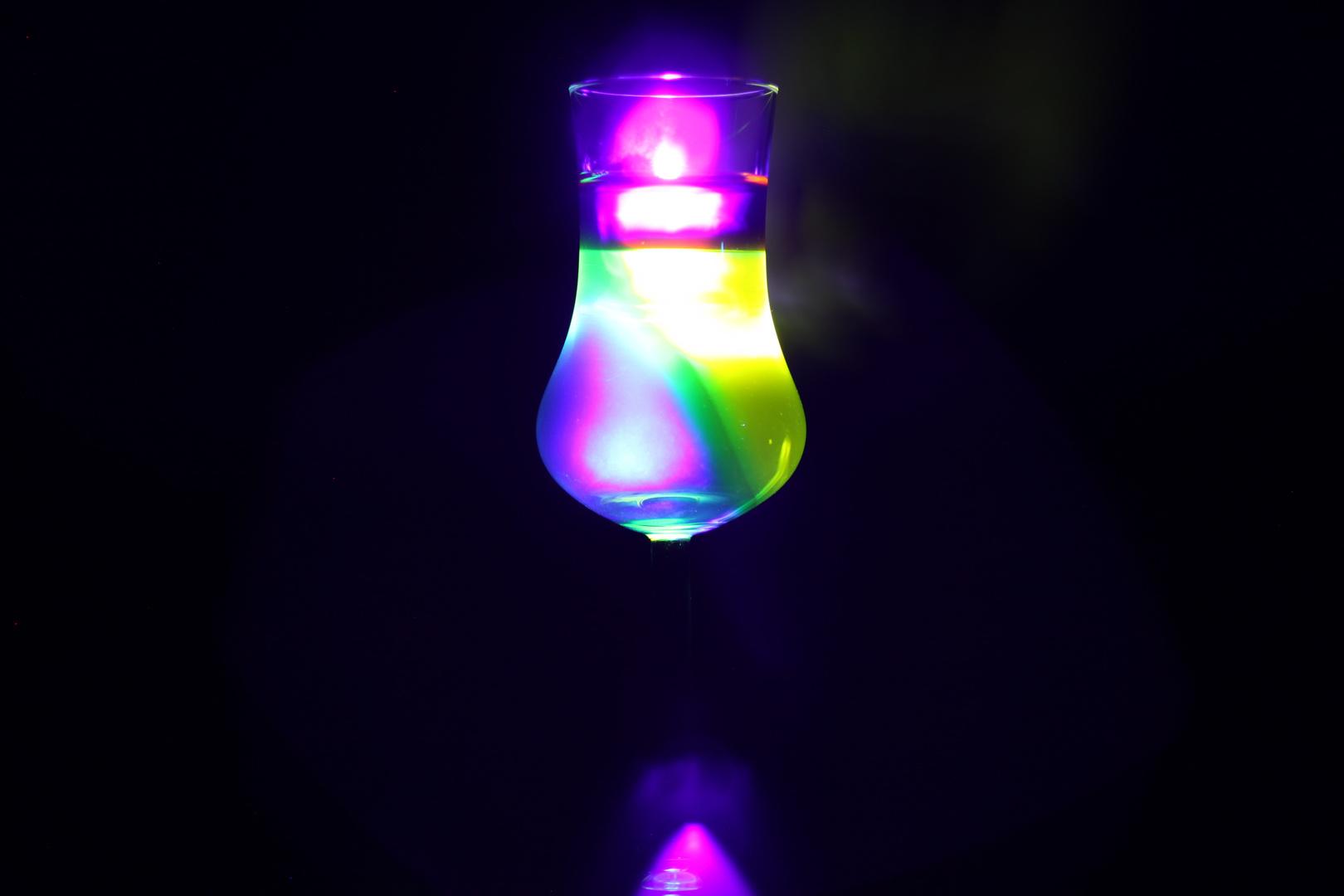 Leuchtendes Glas