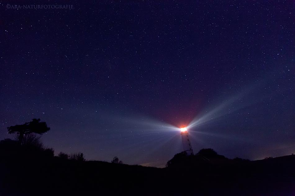 Leuchtfeuer bei Nacht - Der Dornbusch auf Hiddensee (2)