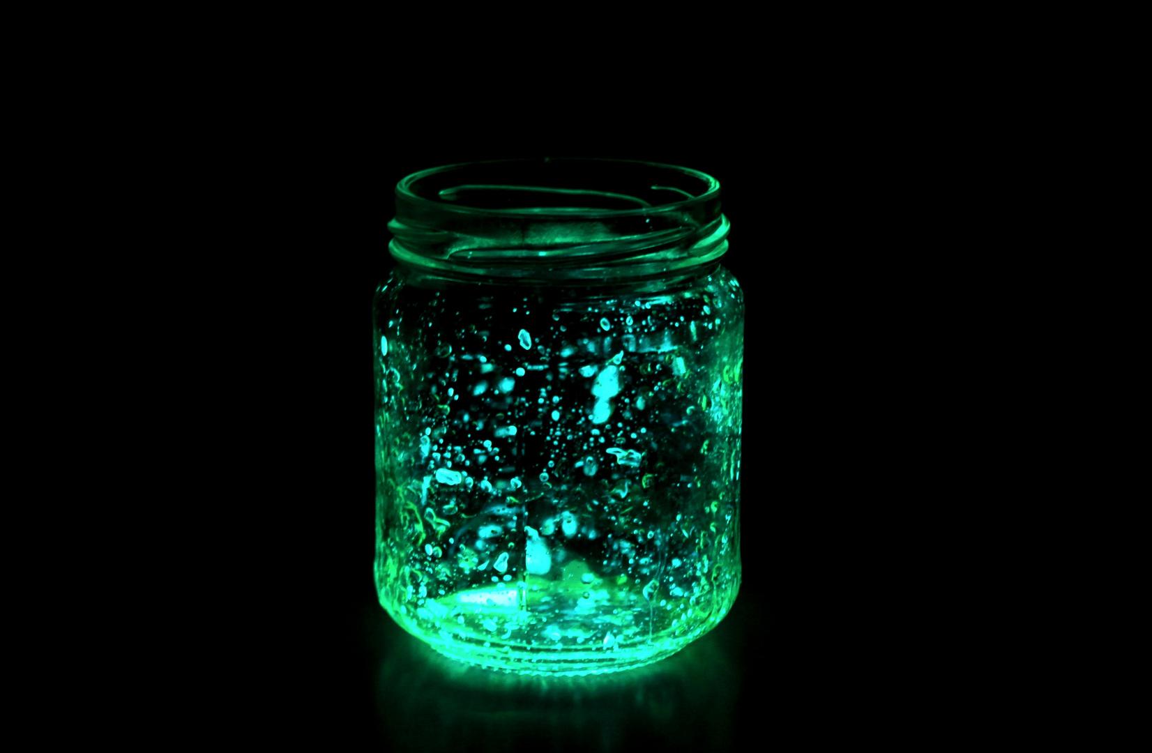 Leuchtmittel im Glas