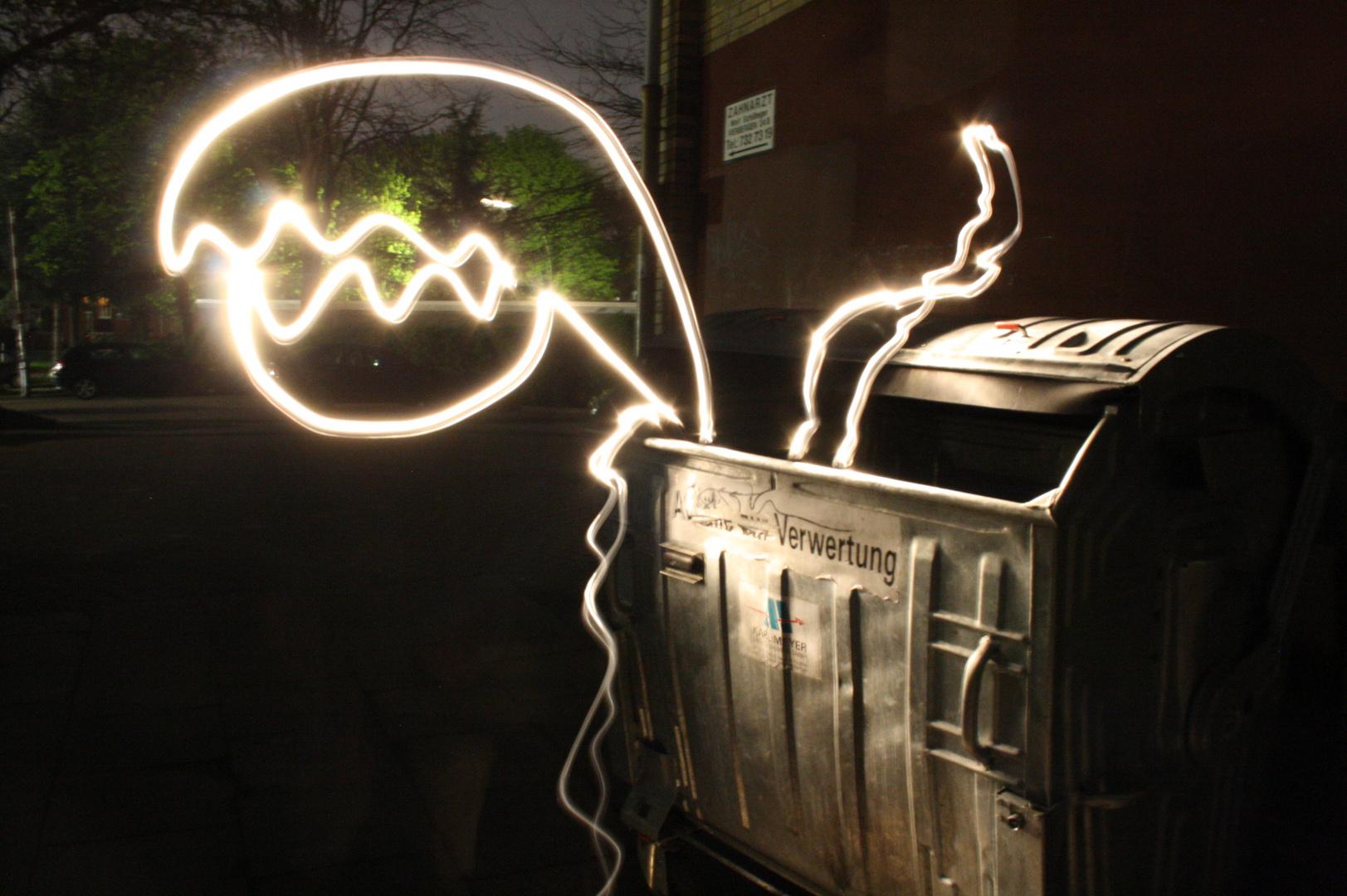 Leuchtschrift Monster