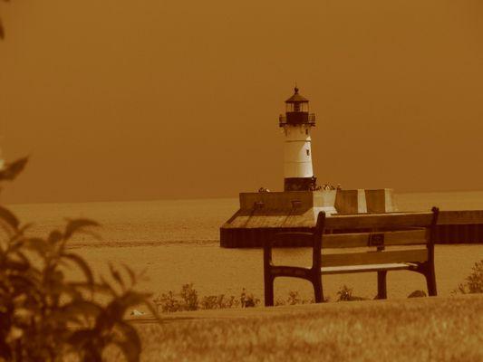 Leuchtturm am Lake Superior, Duluth MN USA