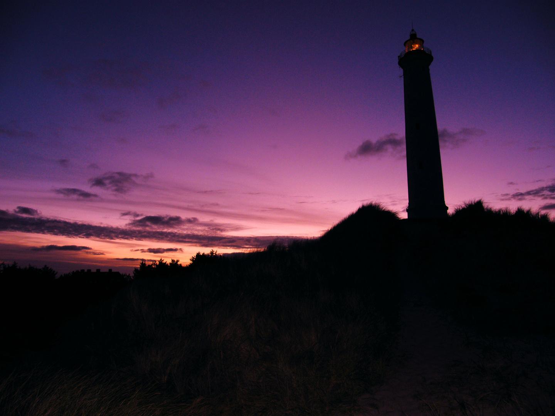 Leuchtturm am Morgen