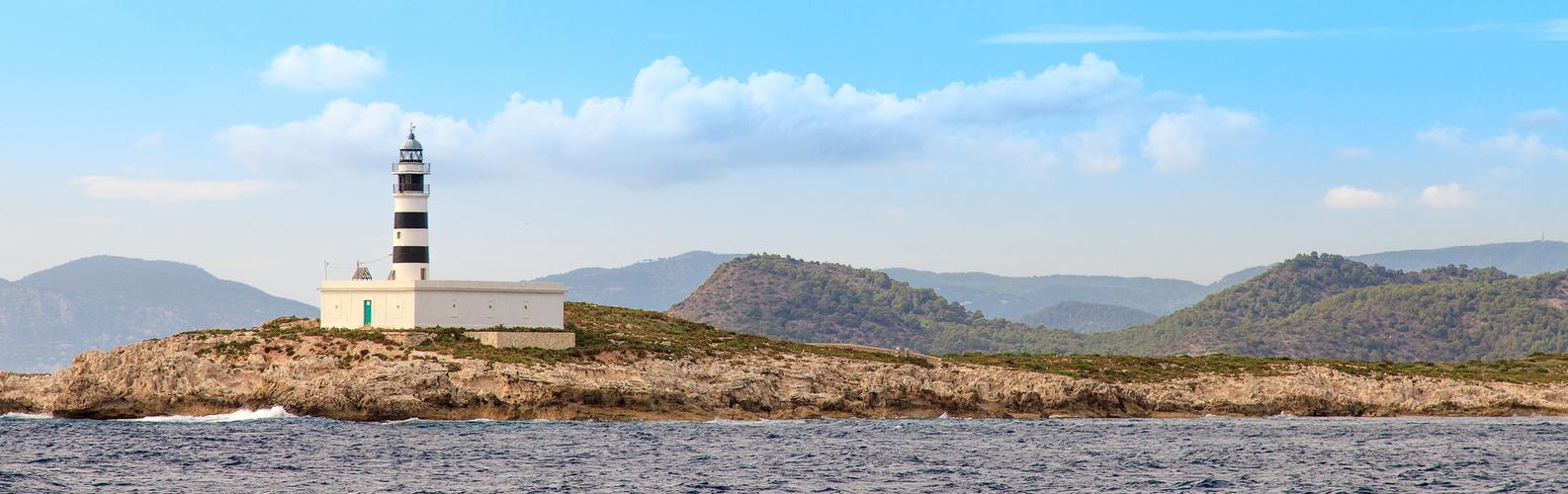 Leuchtturm auf der Illa des Penjats vor Ibiza