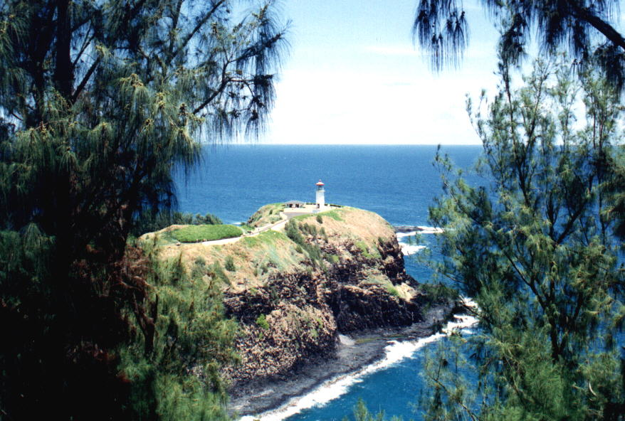 Leuchtturm auf der Insel Kauai'i