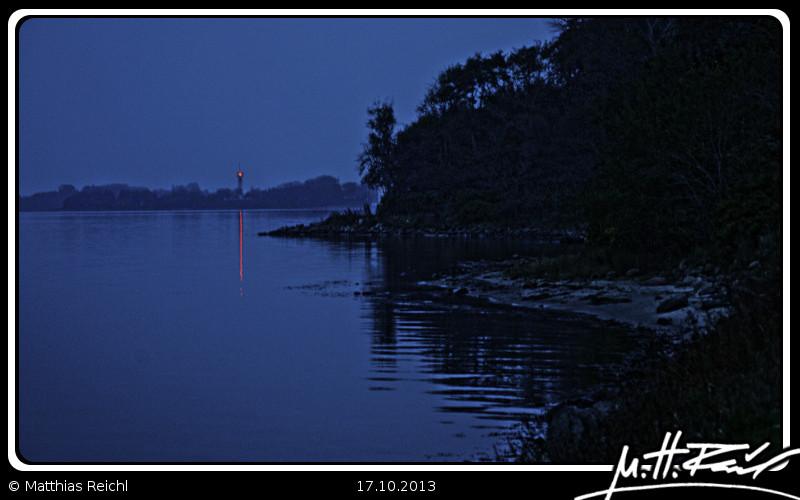 Leuchtturm auf Holnis bei Nacht