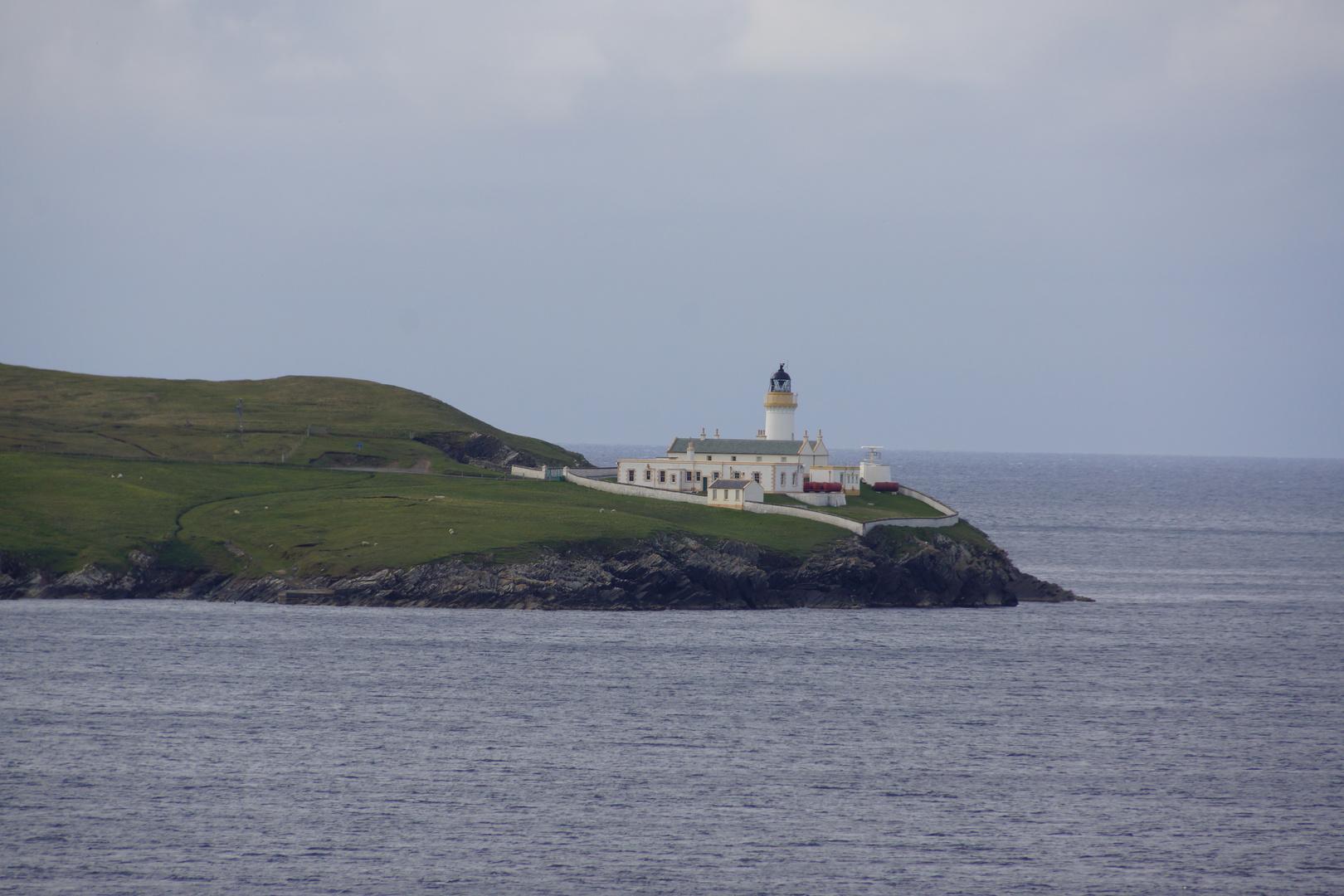 Leuchtturm bei Lerwick / Shetland-Inseln