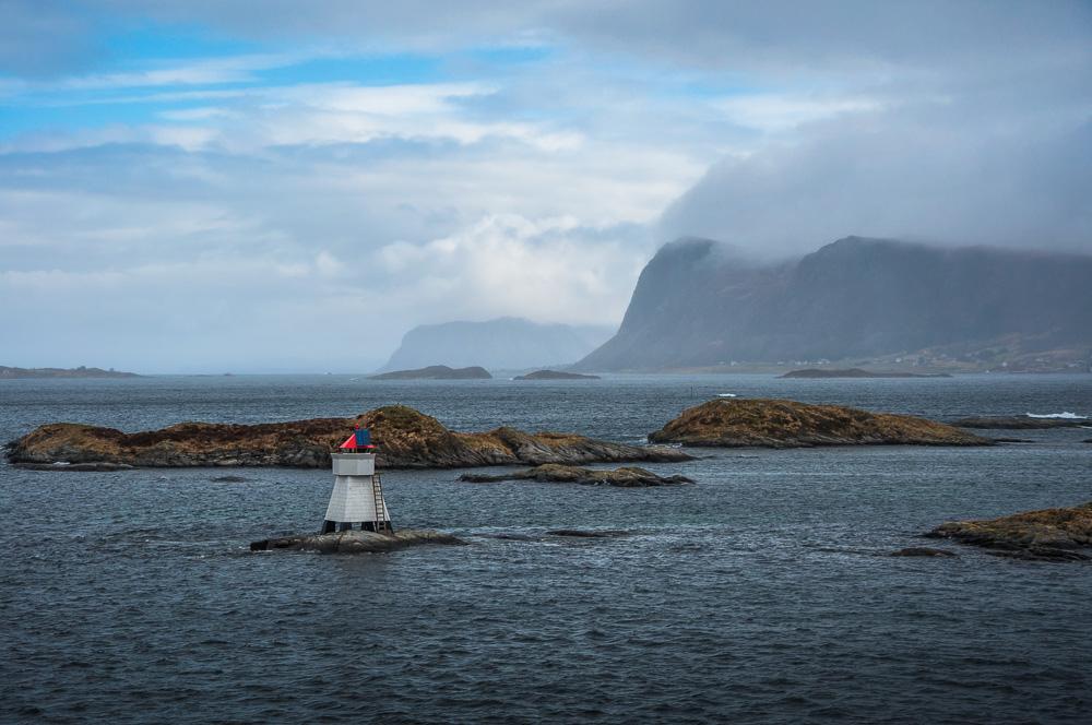 Leuchtturm bei Torvik, Norwegen