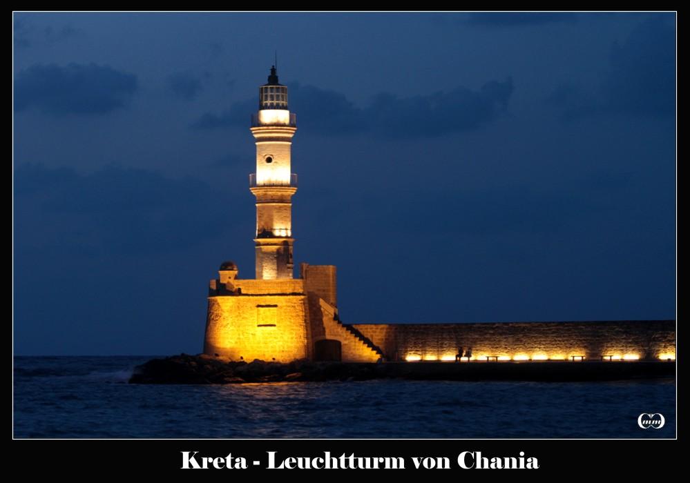 Leuchtturm beim Hafen von Chania