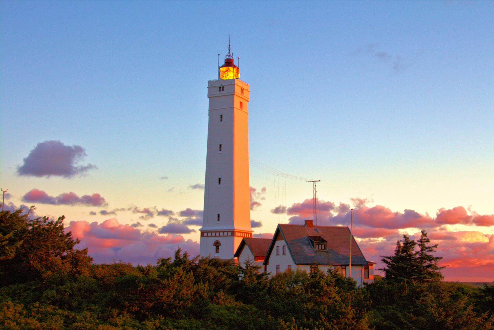 Leuchtturm Blavand bei Sonnenaufgang