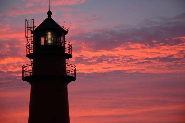 Leuchtturm Büsum am Abend