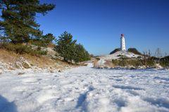 Leuchtturm Dornbusch im Februar 2018
