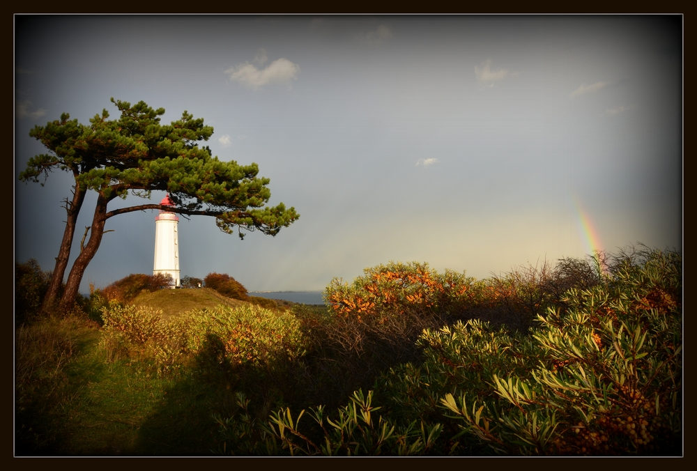Leuchtturm Dornbusch im Oktober 2013