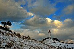 Leuchtturm Dornbusch im Winter 2012