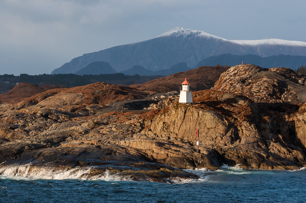 Leuchtturm im Abendlicht, Norwegen