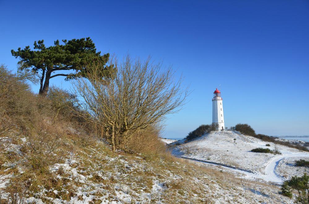 Leuchtturm im Winter