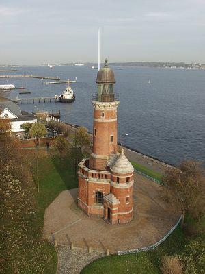 Leuchtturm Kiel Holtenau von oben
