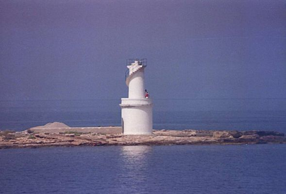 Leuchtturm La Savina Hafen
