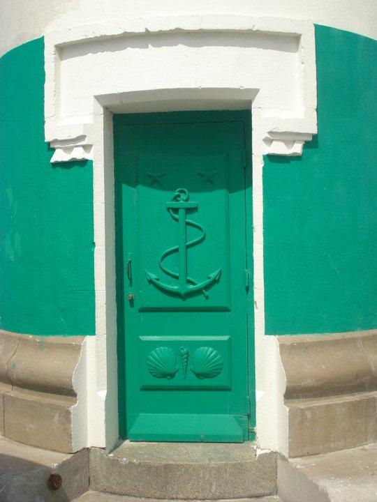 Leuchtturm Tür