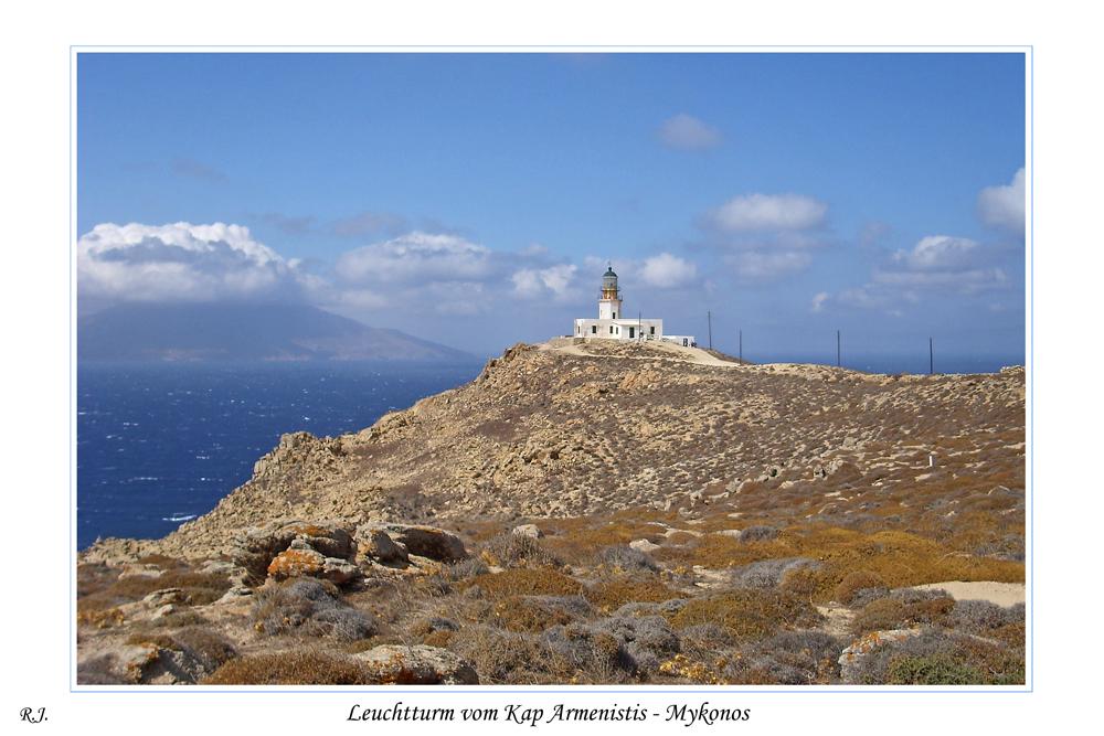 Leuchtturm vom Kap Armenistis - Mykonos