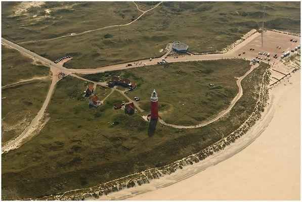 Leuchtturm von Texel, von oben