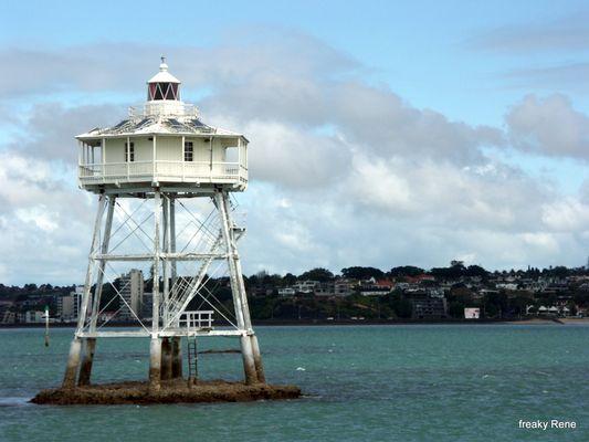 Leuchtturm vor Auckland