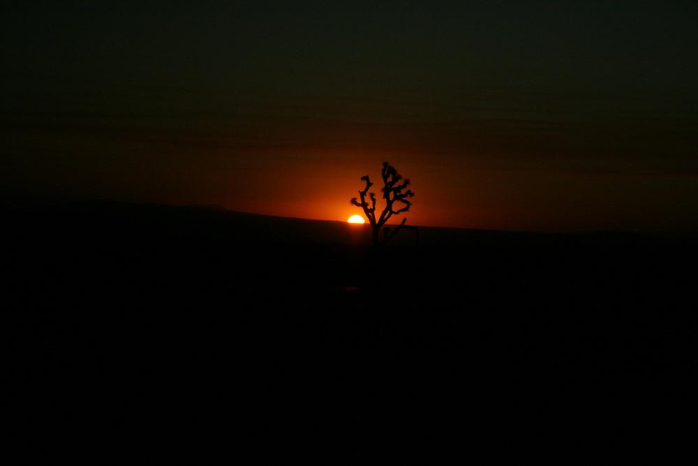Levé de soleil dans la vallée de la mort