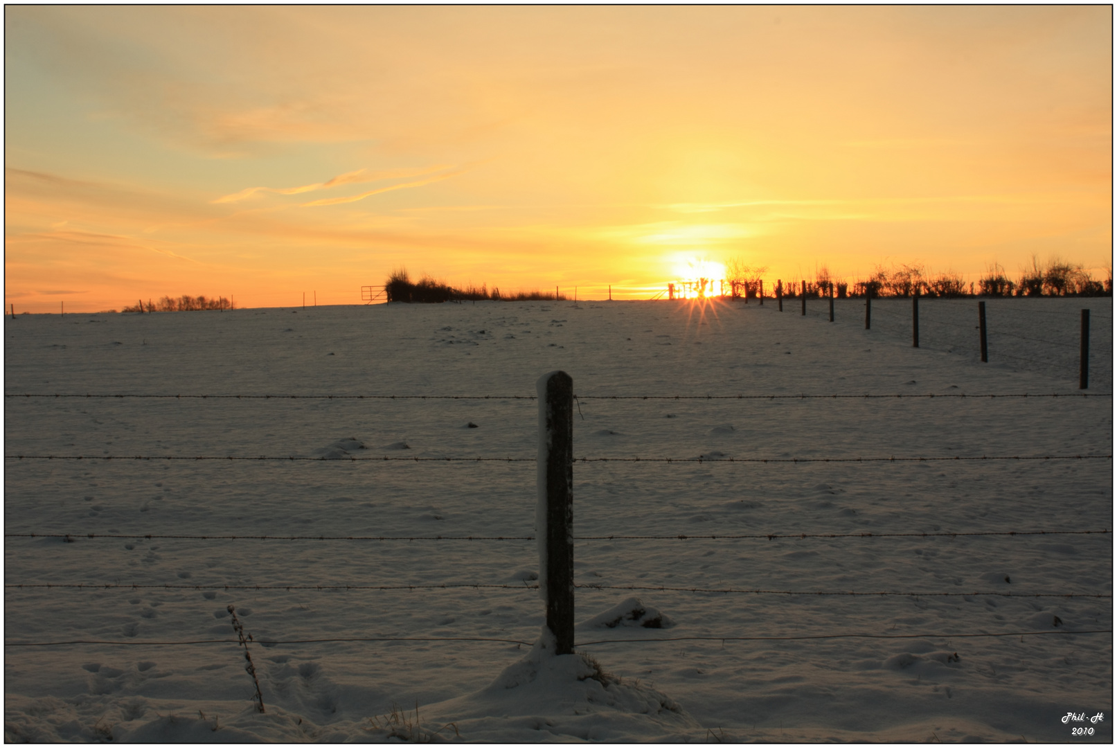 levé de soleil hivernal