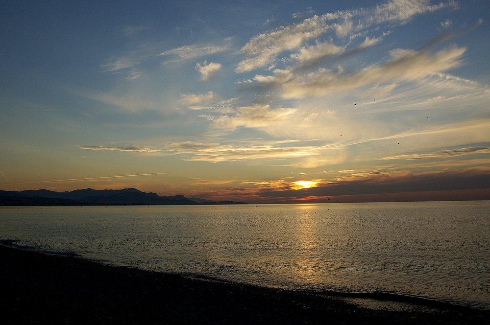 levé de soleil sur la Baie des Anges