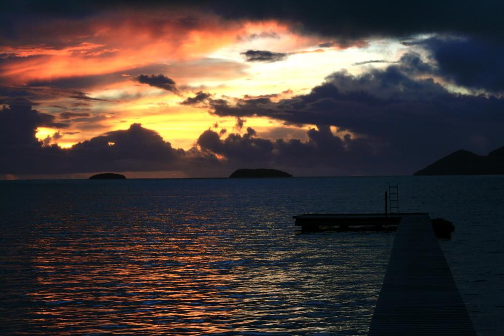 Levé de soleil sur la Martinique